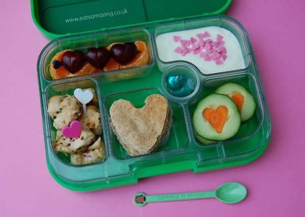 Eats Amazing - Heart themed bento packed with lots of love