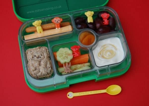 Eats Amazing - Monkey themed lunch with CuteZcute Animal Palz Sandwich