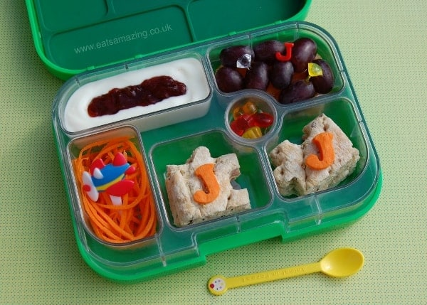 Eats Amazing - Alphabet Themed Kids Bento Lunches - J is for Julienne Jumbo Jet Jam Jewels Jelly Sweets Jigsaw Puzzle