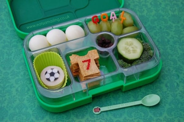 Eats Amazing - Football Themed Bento Lunch in the Yumbox