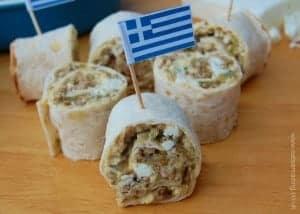 Recipe: Greek Lamb and Feta Wrap Spirals
