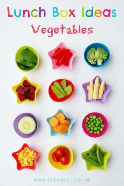 Eats Amazing - Lunch Box Food Ideas - 12 ideas for different vegetables to include in your lunch box