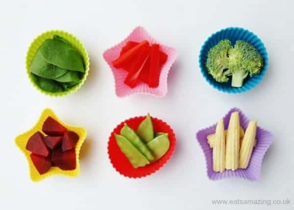 Eats Amazing - Lunch Box Food Ideas - ideas for different vegetables to include in your lunch box