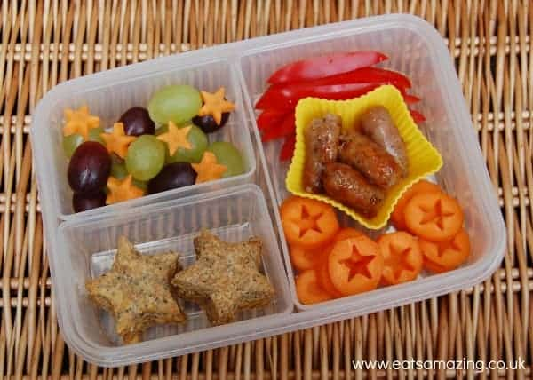 Eats Amazing - Simple star themed picnic lunch