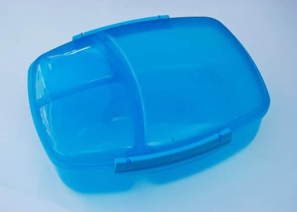 Eats Amazing - Sistema Triple Split to Go Review - Blue version of the lunch box