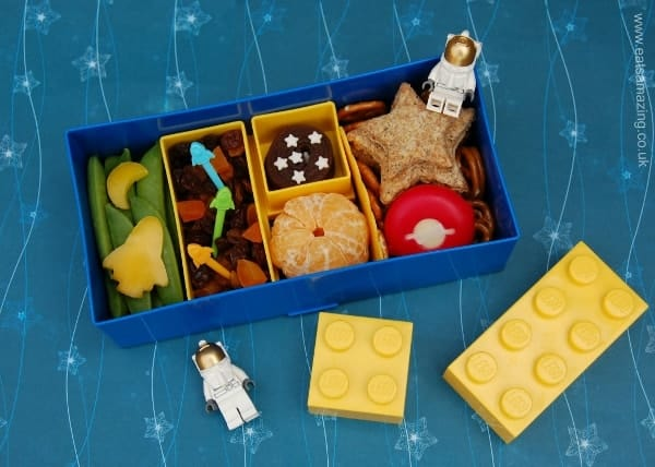 Eats Amazing - Space Themed Lunch in the Lego Lunchbox