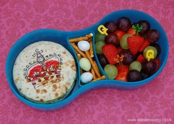 Eats Amazing - Alphabet Themed Kids Bento Lunches - Q is for Queen Quesadilla Quails Eggs