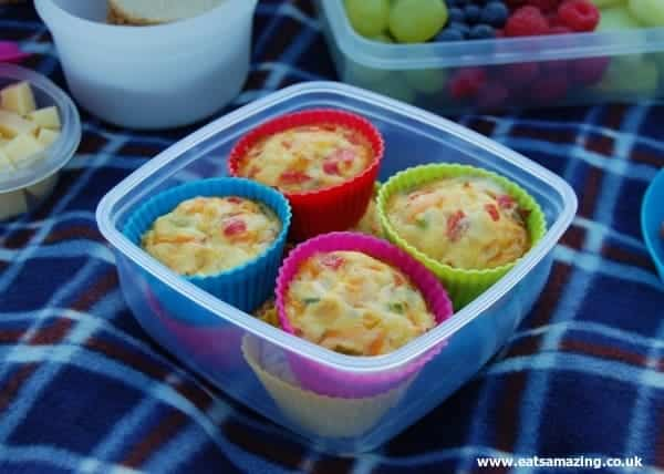 Eats Amazing - Rainbow Omlette Cakes for the Organix No Junk Picnic Challenge
