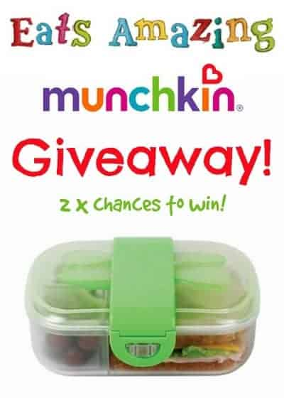 Eats Amazing UK - Back to School Giveaway - Munchkin Bento Mealtime Set - click here for two chances to win