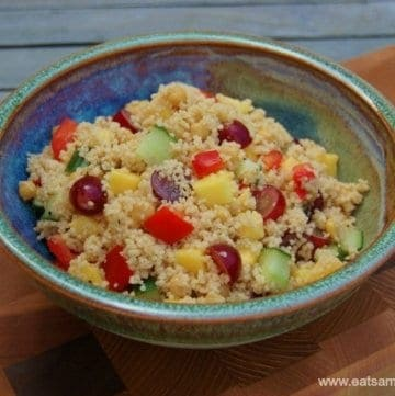 Eats Amazing UK - Delicious Fruity Couscous Salad Recipe - Child friendly and perfect healthy kids lunch box food idea