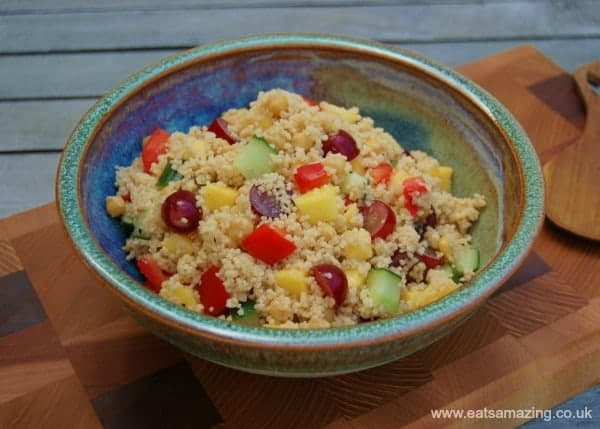 Eats Amazing UK - Delicious Fruity Couscous Salad Recipe - Child friendly and perfect for lunch boxes
