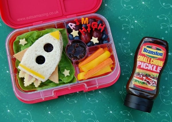 Eats Amazing UK - Rocket themed creative lunch for back to school with Branston Pickle