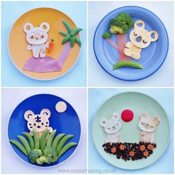 Eats Amazing UK - Simple food art for children made using the cuteZcute cuddle palz sandwich cutter - click here to buy