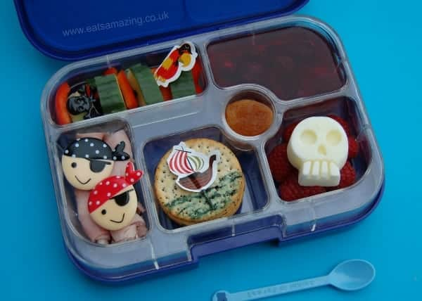 Eats Amazing UK - Fun pirate themed bento lunch for International Talk Like a Pirate Day 2014