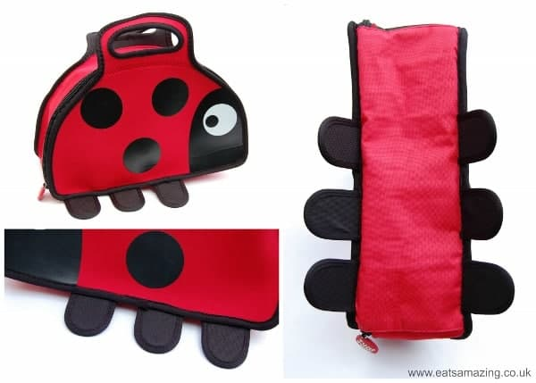 Eats Amazing UK - Review of the TUMTUM BUGS Range - Ladybird Lunchbag