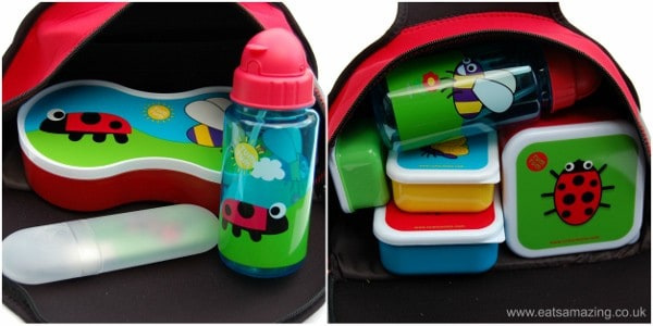 Eats Amazing UK - Review of the TUMTUM BUGS Range - inside the Ladybird Lunchbag