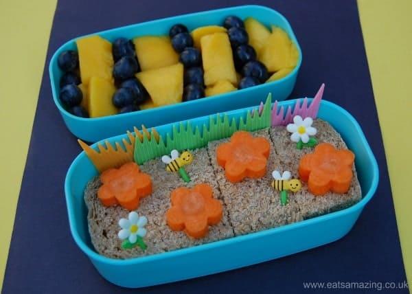 Eats Amazing UK - Simple bee themed bento lunch box