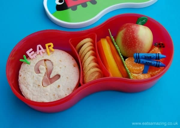Eats Amazing UK - Special Bento lunch idea for the first day of the school term in our TUMTUM Bugs Lunch Box