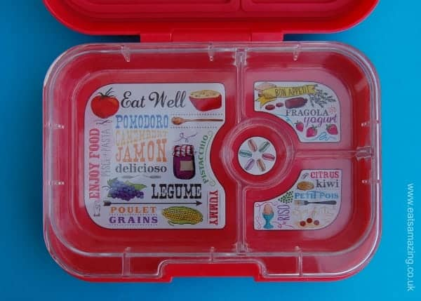 Eats Amazing UK - Yumbox Panino Review - Compartmented tray