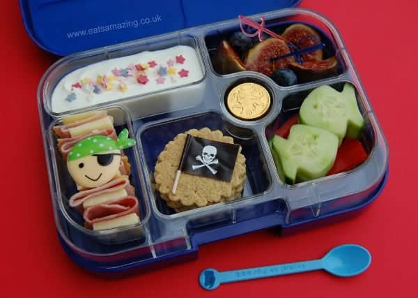 Eats Amazing UK - simple crackers and cheese pirate themed lunch for Talk Like a Pirate Day