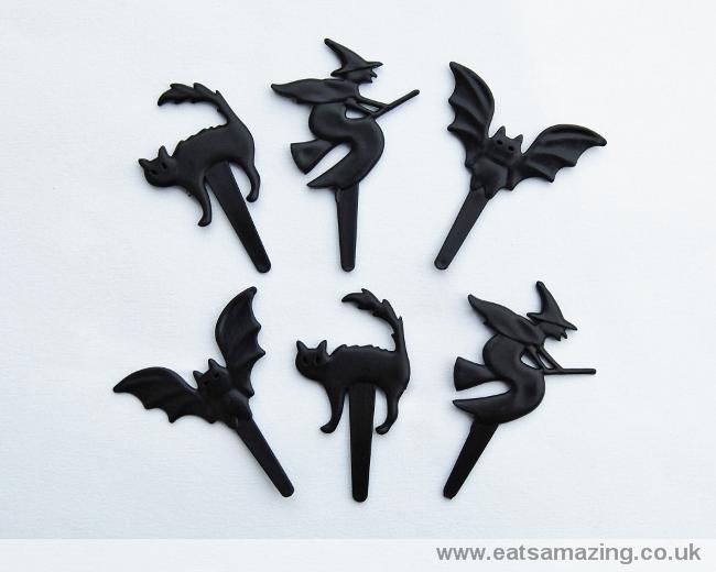 Cat Bat and Witch Cupcake Picks