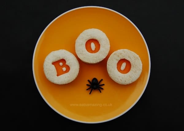 Eats Amazing UK - 10 Fun Sandwich Ideas for the Kids this Halloween - Boo Sandwiches
