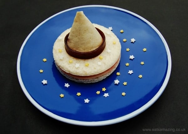 Eats Amazing UK - 10 Fun Sandwich Ideas for the Kids this Halloween - Edible Wizards Hat Sandwich