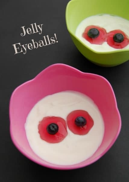 Eats Amazing UK - Halloween Treats - Jelly Eyeballs served up in a bowl of natural yoghurt - would also work with icecream