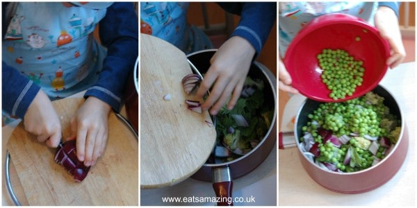 Eats Amazing UK - Pea and Brocolli Soup cooked by Small Child - Step 2