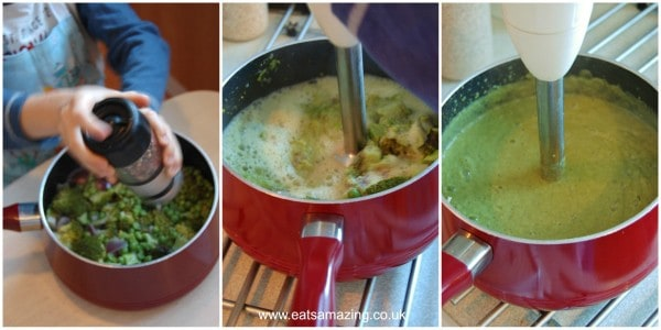 Eats Amazing UK - Pea and Brocolli Soup cooked by Small Child - Step 3