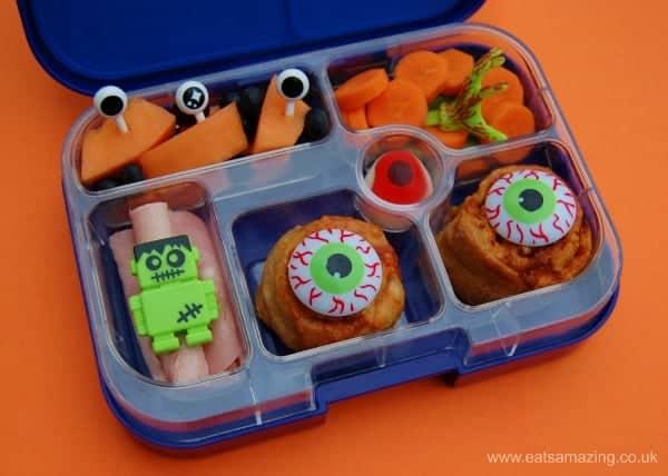 Eats Amazing UK - Simple and fun school kids bento lunch idea with eyeballs