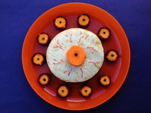 Edible Eyeball Fun Food Idea for Halloween -  Simple Quesadilla from Eats Amazing UK