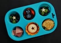 Fun and Easy Halloween Food Idea for Kids - Simple Halloween Themed Muffin Tin Meal from Eats Amazing UK
