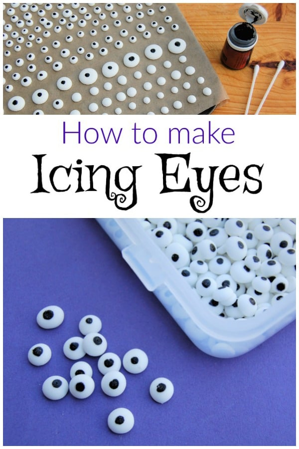How to make Icing Eyes for cake decorating cookies and fun food for kids - fun food tutorial #EatsAmazing #funfood #cakedecorating #foodart #icingcookies #googlyeyes #edibleart #kidsfood