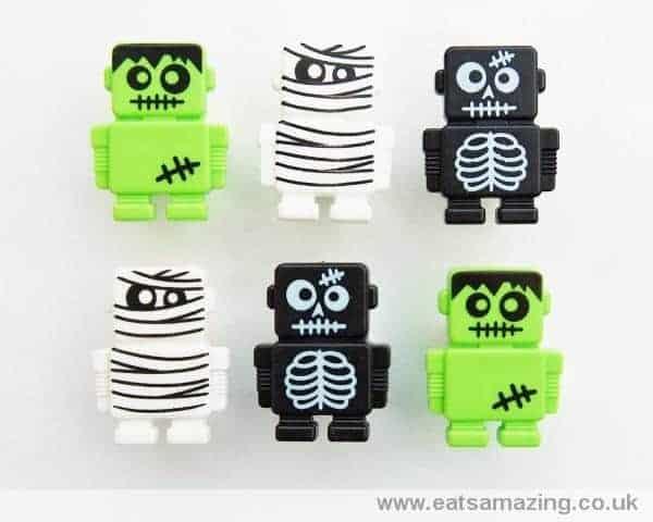 Robot cupcake rings - Halloween version