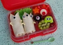 Alien Space Themed school lunch idea from Eats Amazing UK in the Yumbox Panino - fun and healthy bento lunch idea for children