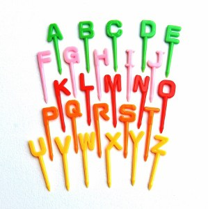 Alphabet Bento Food Picks from Eats Amazing UK - great tool for teaching phonics to children using food