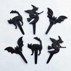 Bat Cat Witch Cupcake Picks Halloween cake Decorations from Eats Amazing UK bento shop