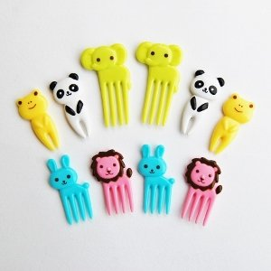 Bright Animal Fork Picks Elephant Bento Accessories from Eats Amazing UK - making healthy food fun for kids