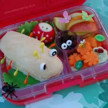 Bug Themed Food - Fun Garden Bugs healthy kids School Lunch Idea from Eats Amazing UK