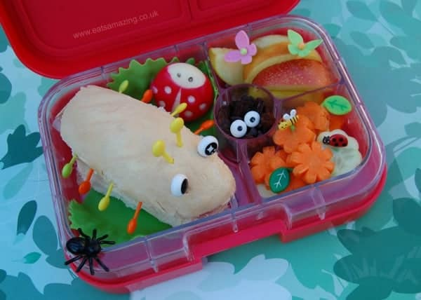 Bug Themed Food - Fun Garden Bugs School Lunch Idea from Eats Amazing UK
