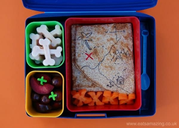 Eats Amazing - Alphabet Themed Kids Bento Lunches - X is for X marks the spot X-ray