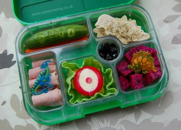 Fun Dinosaur Food - Dinosaur Themed Bento Lunch for Dinovember from Eats Amazing UK
