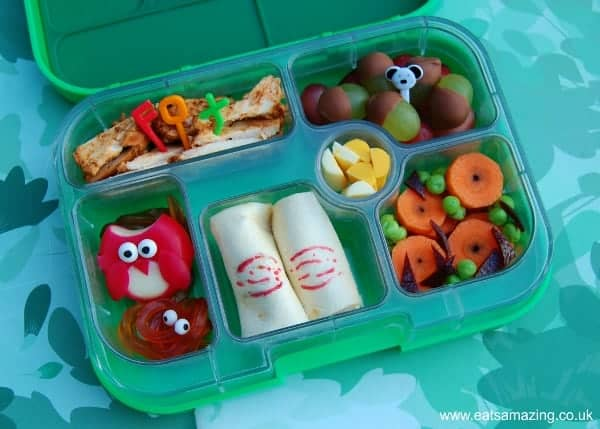 Gruffalo food - book themed school lunch idea with Babybel Owl from Eats Amazing UK