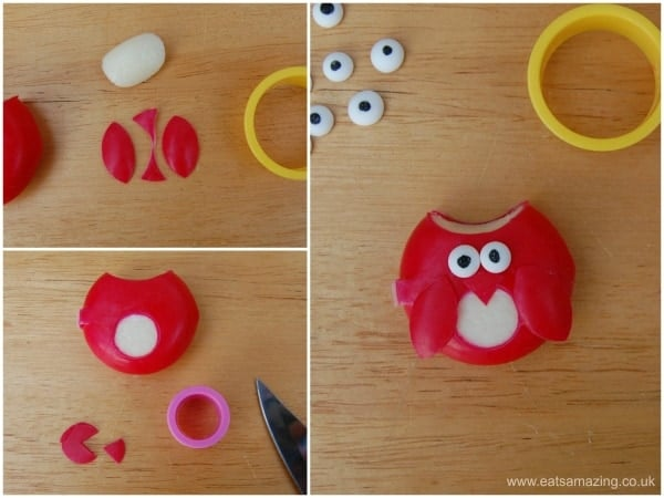 Harry Potter Food - How to make a Babybel Owl Step 2 from Eats Amazing UK