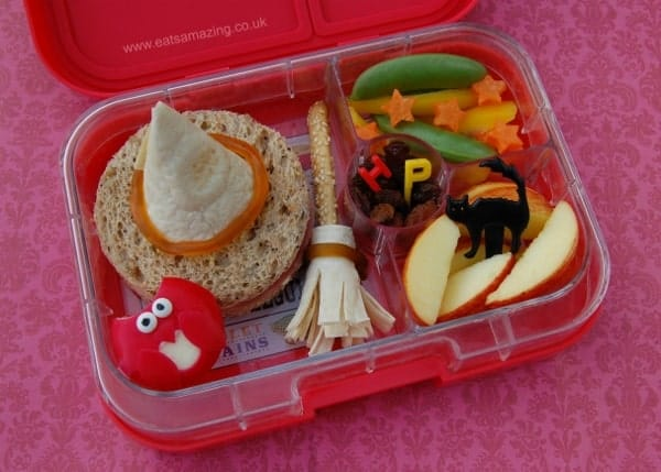 Harry Potter Themed Food - Fun Packed bento Lunch Idea in the Yumbox Panino from Eats Amazing UK