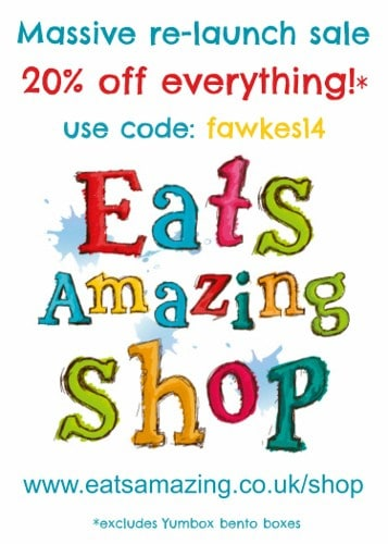 Massive sale to celebrate the re-launch of the Eats Amazing UK Bento Shop