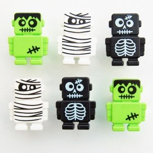 Monster Robot Cupcake Rings / cake Decorations from Eats Amazing UK bento shop - perfect for Halloween