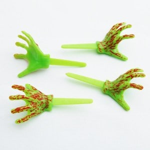 monster zombie hands cupcake picks cake decorations from eats amazing uk bento shop perfect