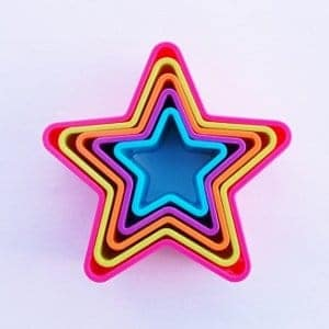 Nesting Star Shape Cookie Cutters from Eats Amazing UK